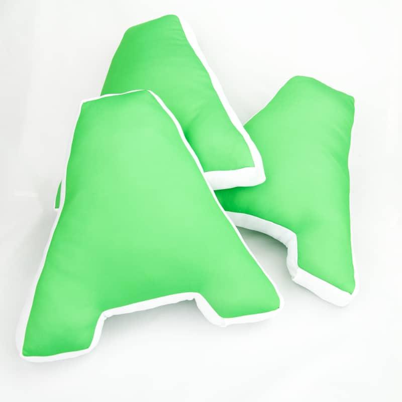 """Необычная подушка в форме буквы """"А"""""""