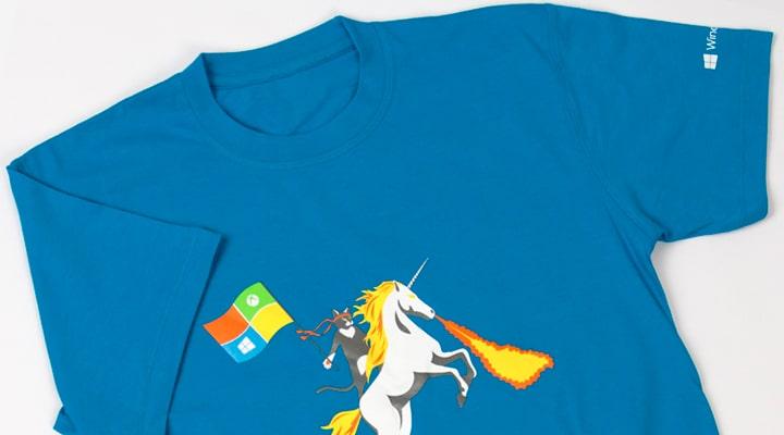 Футболка для Microsoft. Печать шелкография.