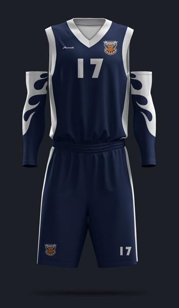 Баскетбольная форма. дизайн Б-01. Вид спереди.