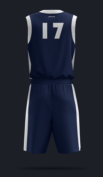 Баскетбольная форма. дизайн Б-01. Вид сзади.