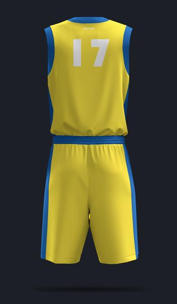 Баскетбольная форма. дизайн Б-03. Вид сзади.