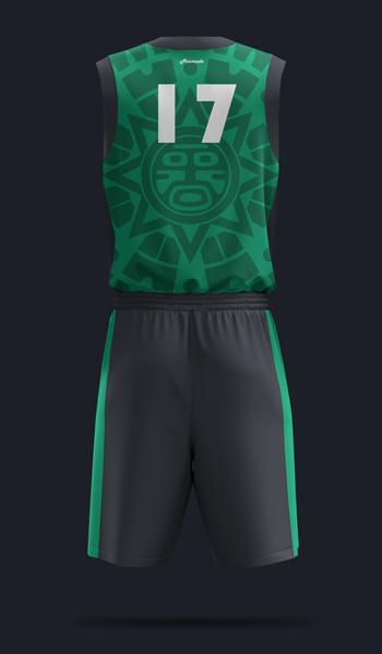 Баскетбольная форма. дизайн Б-04. Вид сзади.