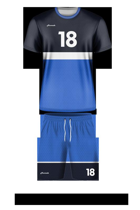 комплект футбольной формы. Дизайн А-02