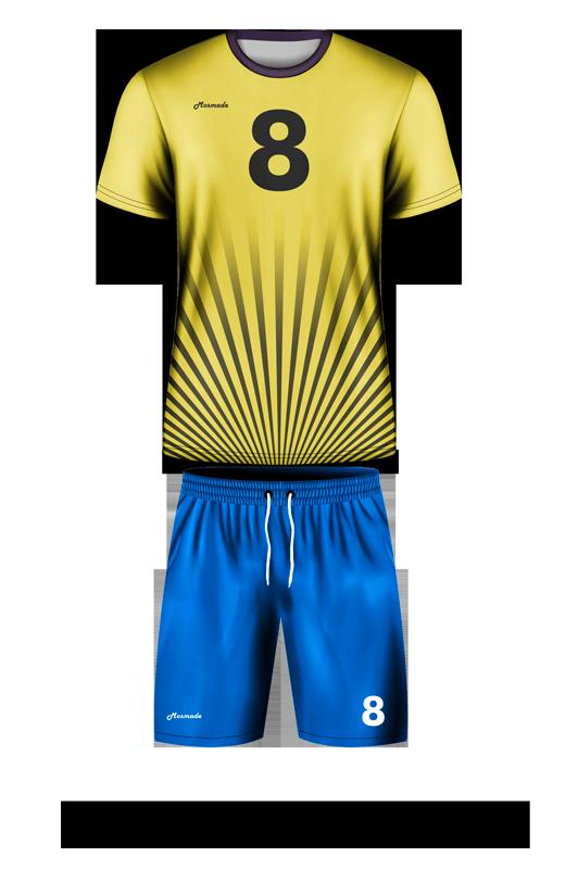 комплект футбольной формы. Дизайн А-04