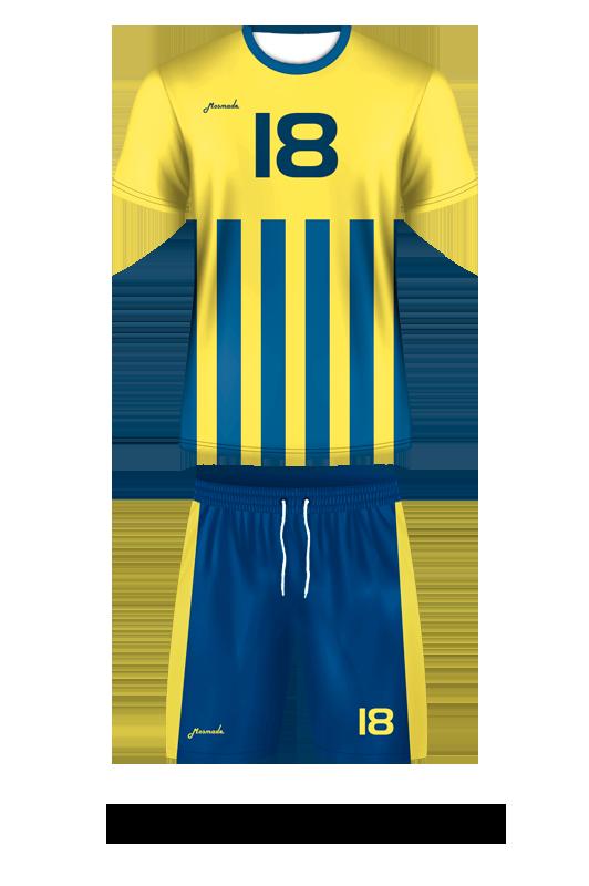 комплект футбольной формы. Дизайн А-05