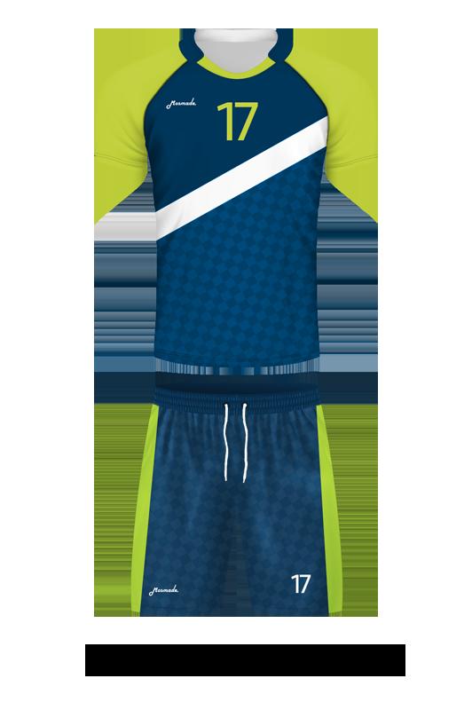 комплект футбольной формы. Дизайн D-08